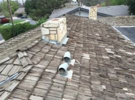 Re-Roofing Job Before