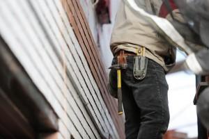Man Working on Drywall